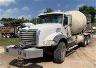 2009 Mack GU813 Mixer Truck with MP7 Power and MTM Mixer