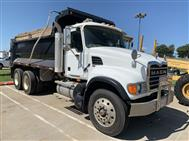 2005 Mack Granite CV713 Dump Truck with 14-16yd OX Body and High Lift Tailgate